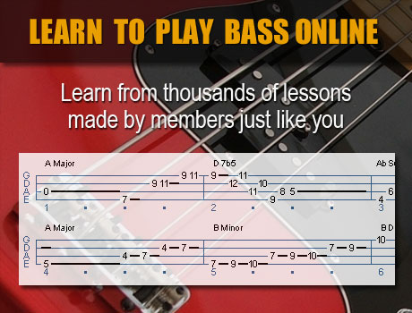 Learn to play bass online