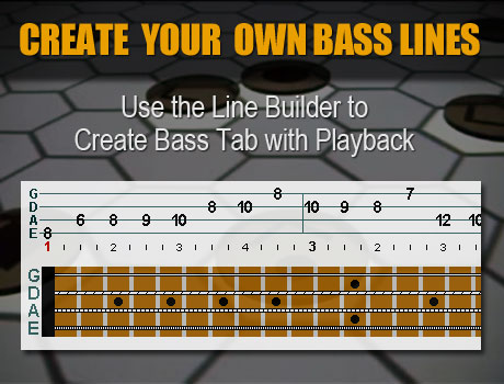Build your own bass lines with tab and music playback