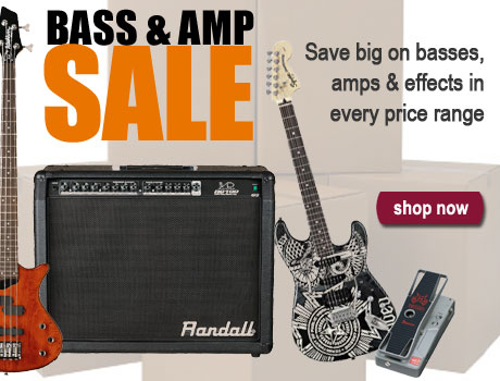 Shop for basses, amps, effects, and more