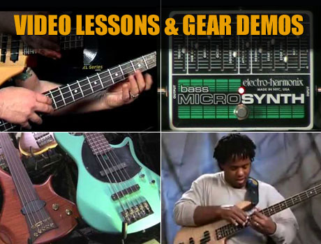 Watch bass video lessons and product demos